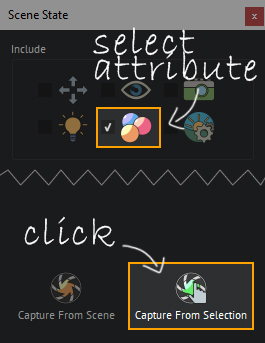 Select the attributes, and click on capture from selection.