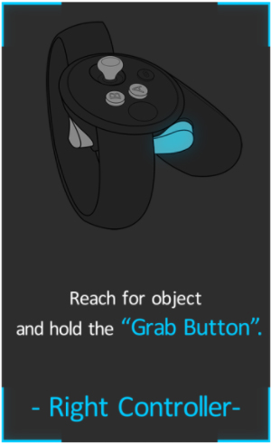 Hold the Grab key on the controller.