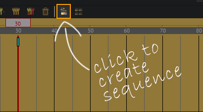 "Click the ""create animation sequence"" button."