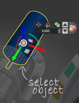 Select the object in the scene.
