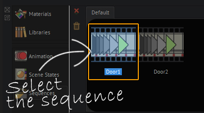 Select the animation sequence