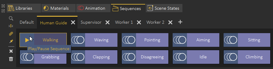 Animated characters sequences in SimLab Composer