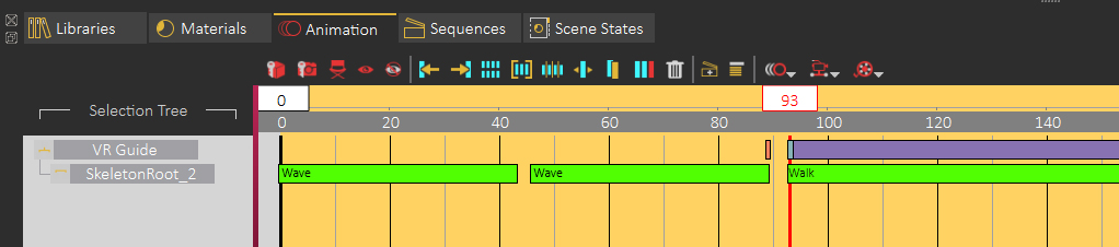 Arranging Animation Sequences in the animation Timeline.