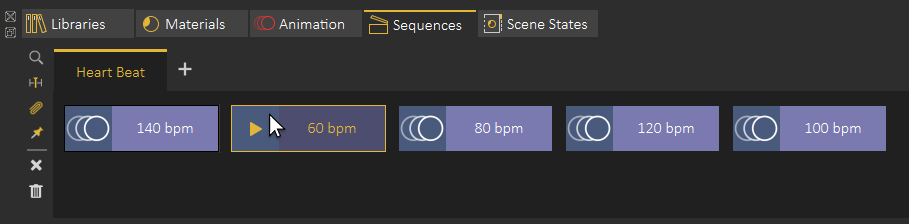 Animation Sequences groups in SimLab Composer.